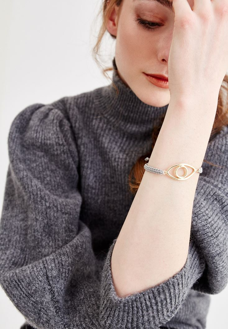 Mixed Bracelet with Eye Detail