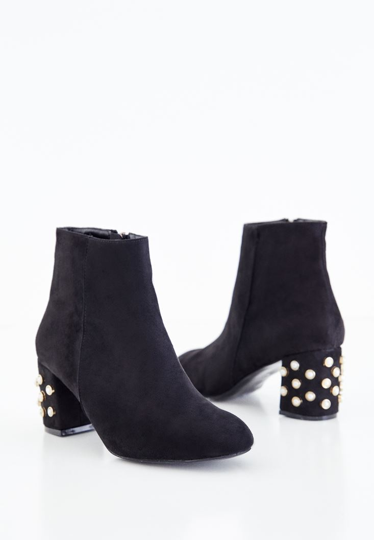 Boots with Pearl Details