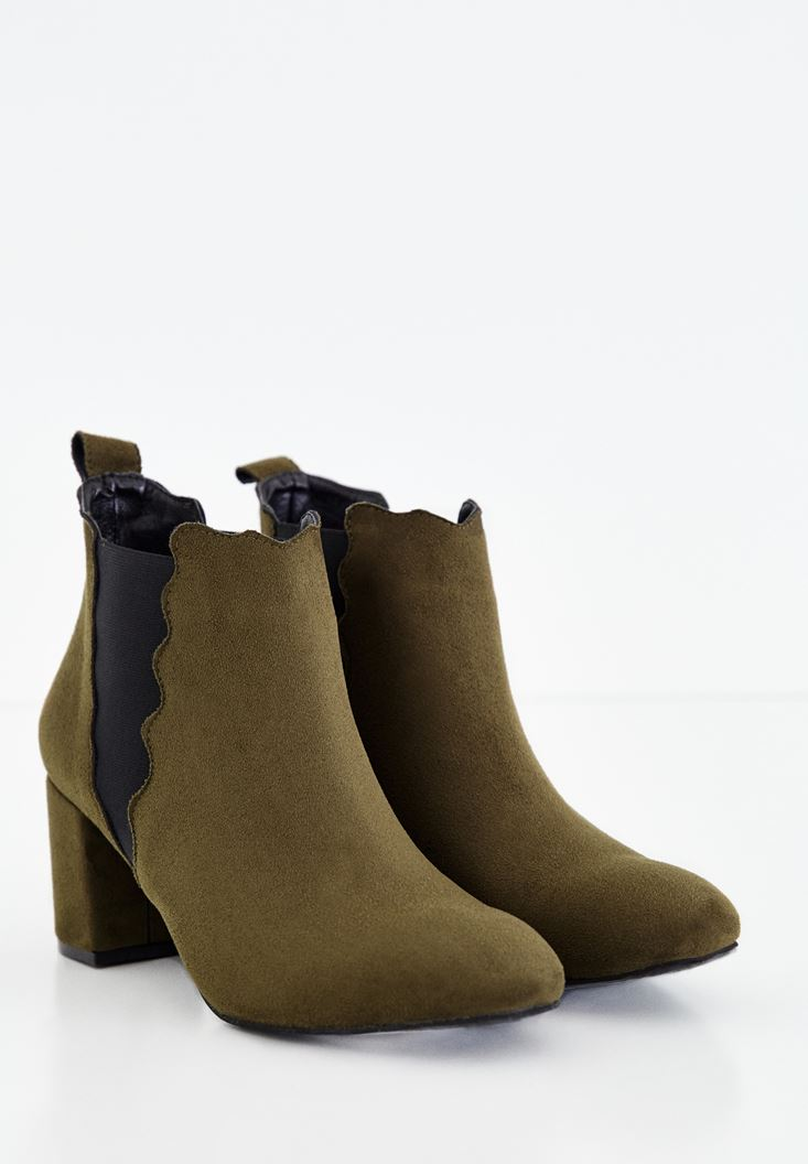 Green Rubber Detailed Boots