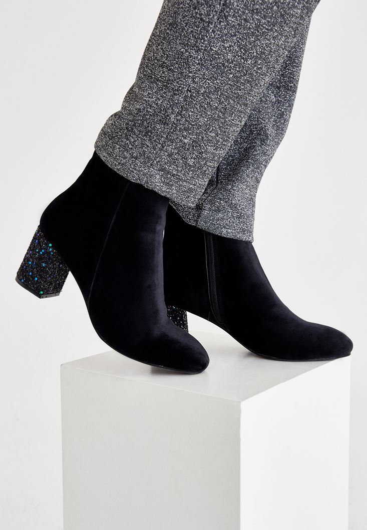 Black Ankle Boots with Details