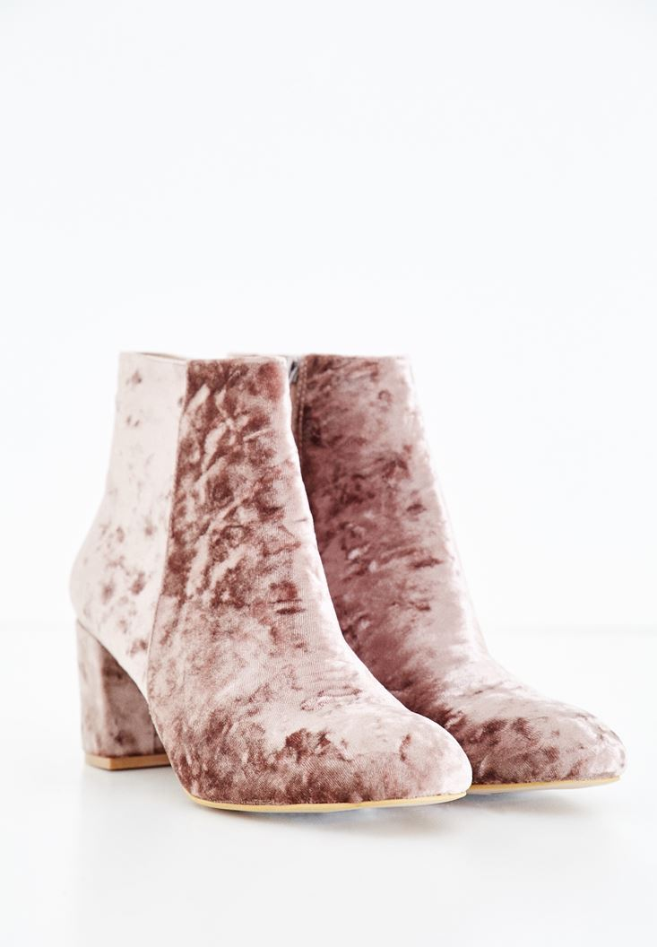Pink Ankle Boots with Details