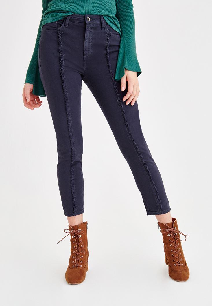 Lacivert Ultra Yüksek Bel Slim Pantolon