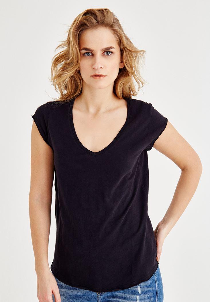 V Neck Short-Sleeved T-Shirt