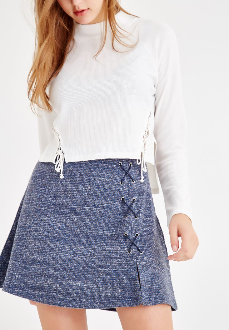 Mixed Skirt with Details