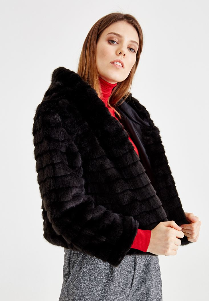 Black Long Sleeve Fur