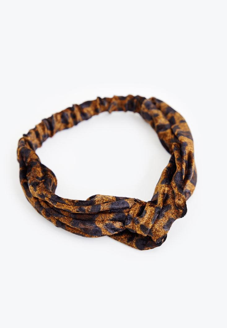 Mixed Hairband with Leopard Printed
