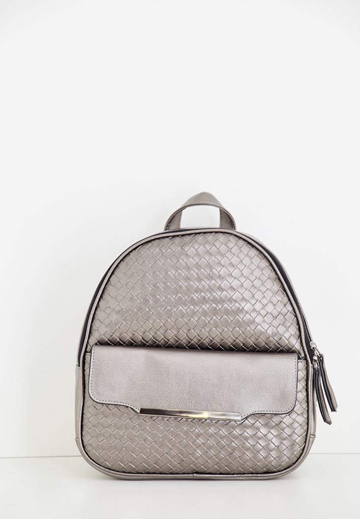 Grey Textured Bag