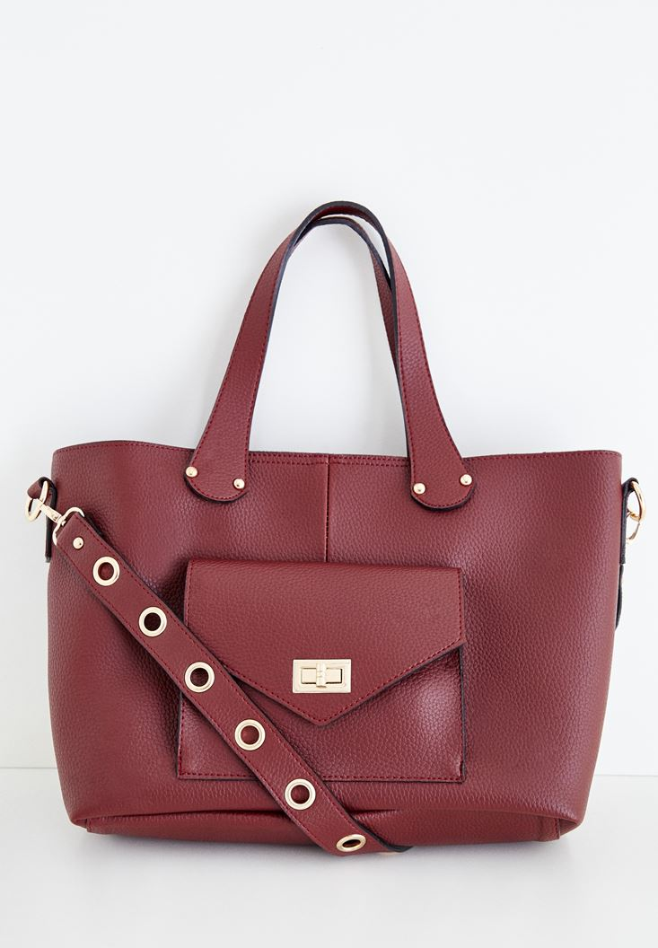 Bordeaux Bag with Eyelet Detailed