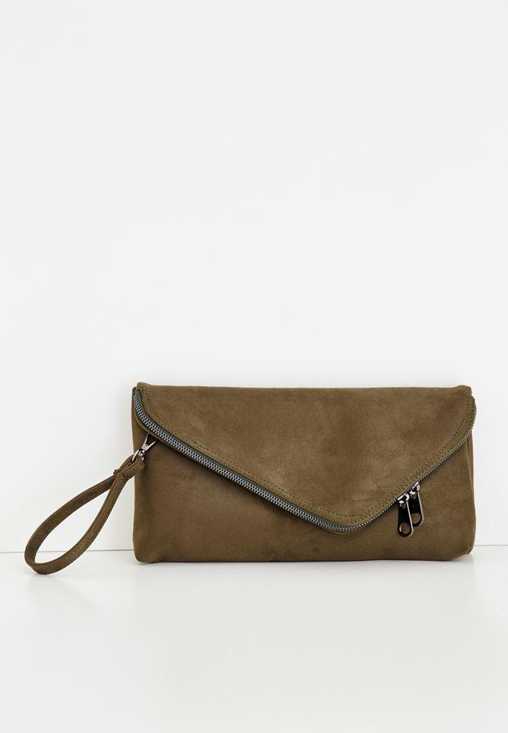 Yeşil Zarf Kesim Detaylı Çanta