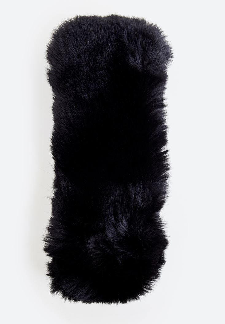 Black Furry Shawl
