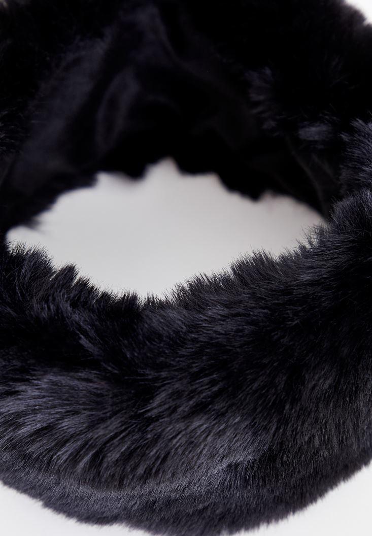 Bayan Siyah Tüy Boyunluk