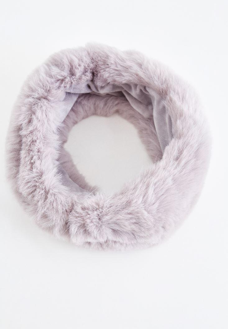Grey Furry Shawl