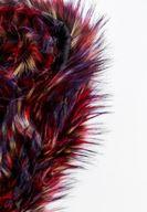 Bayan Çok Renkli Tüylü Kürk Boyunluk
