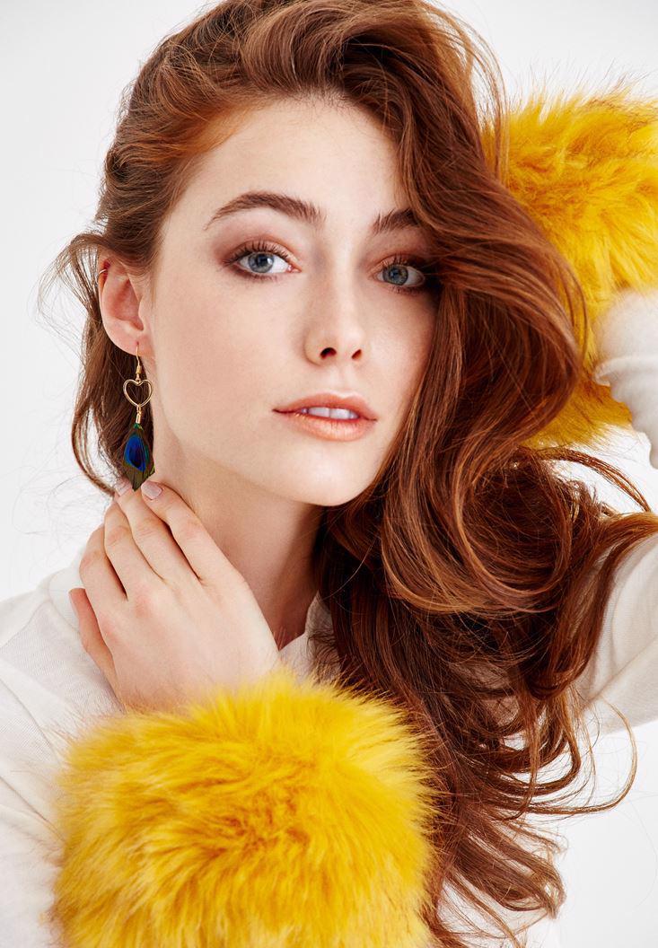 Bayan Sarı Kürk Bileklik
