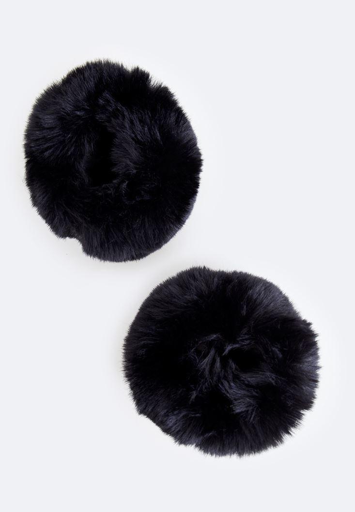 Bayan Siyah Suni Kürk Bileklik