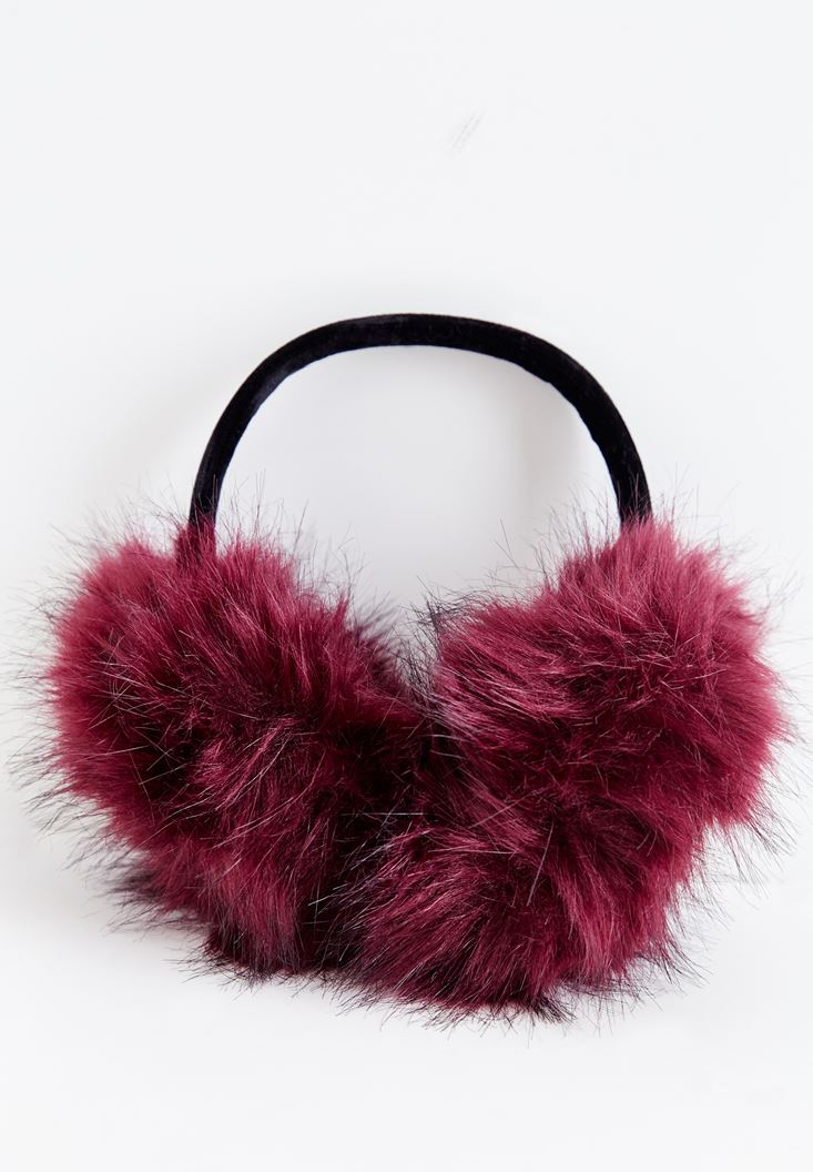 Purple Furry Ear Protection