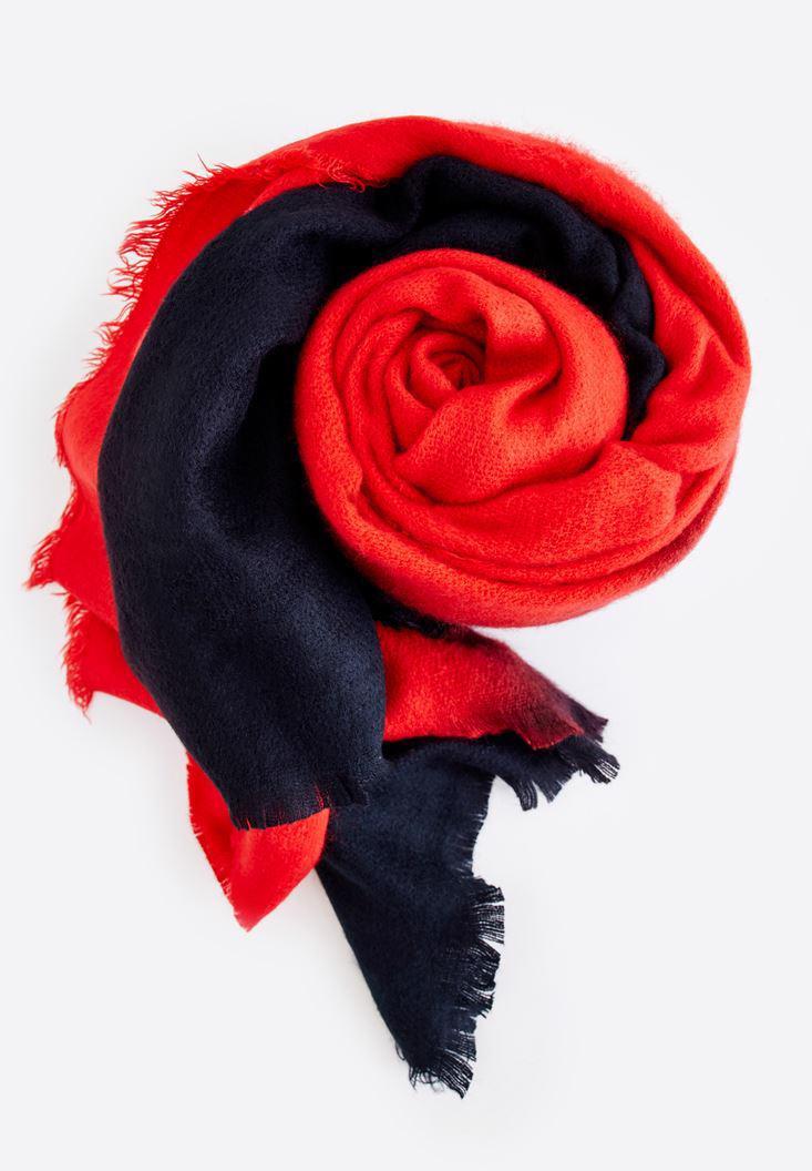 Bayan Kırmızı Geniş Şal