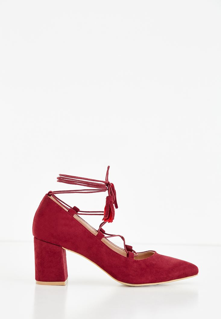 Bordeaux Corded High Heels