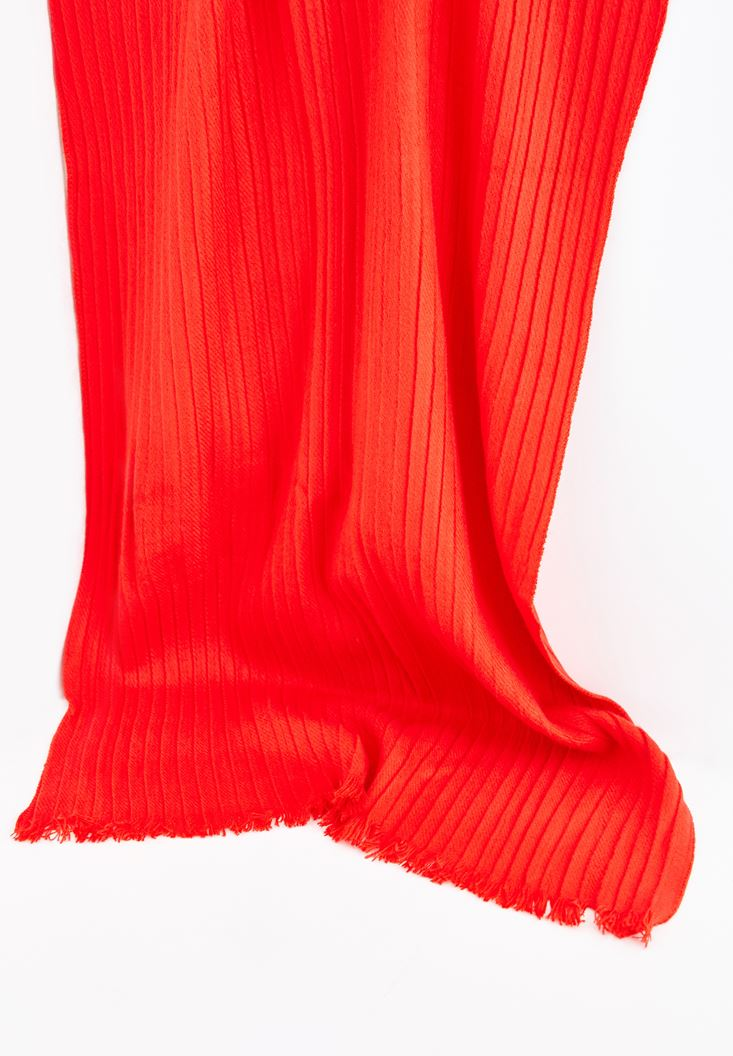 Red Shawl with Tassel