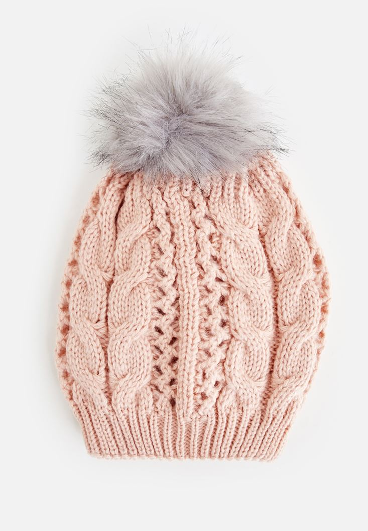 Pink Beret with Pompom