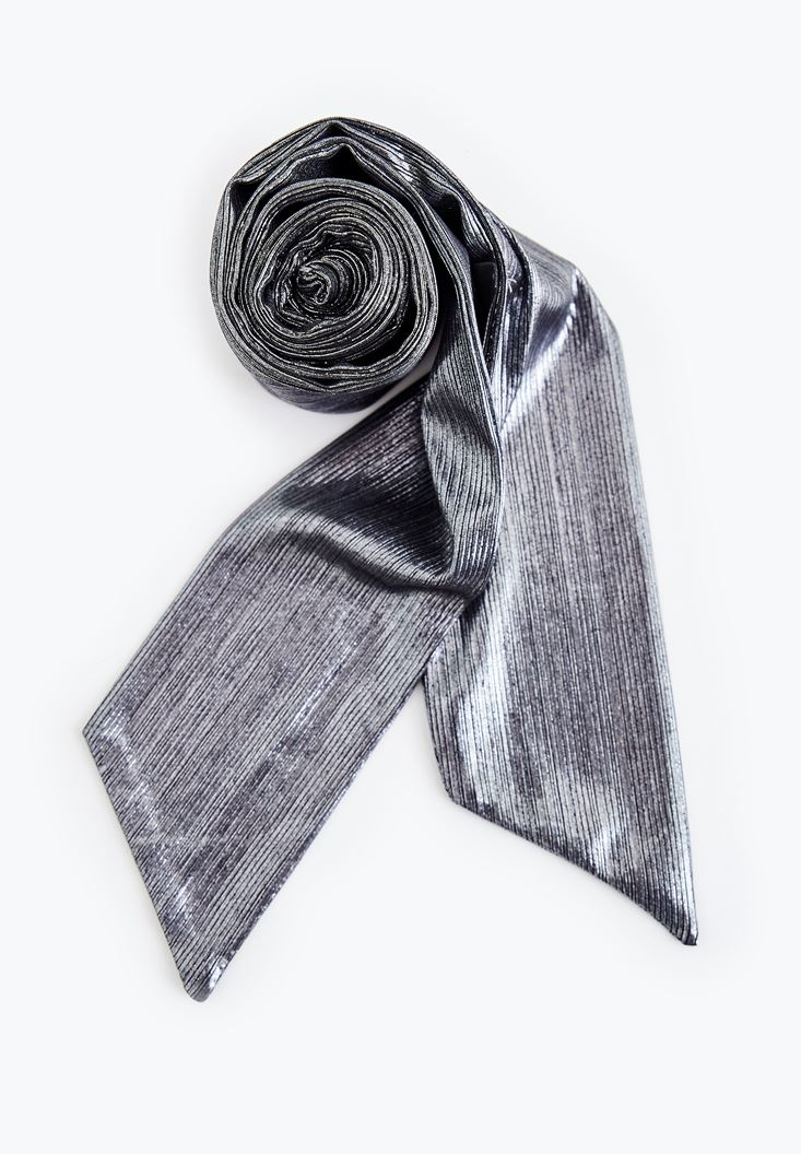 Grey Foulard with Shiny Details