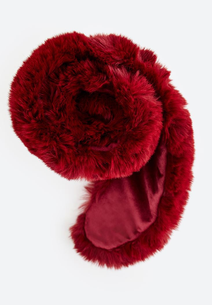 Bordeaux Fur Neck