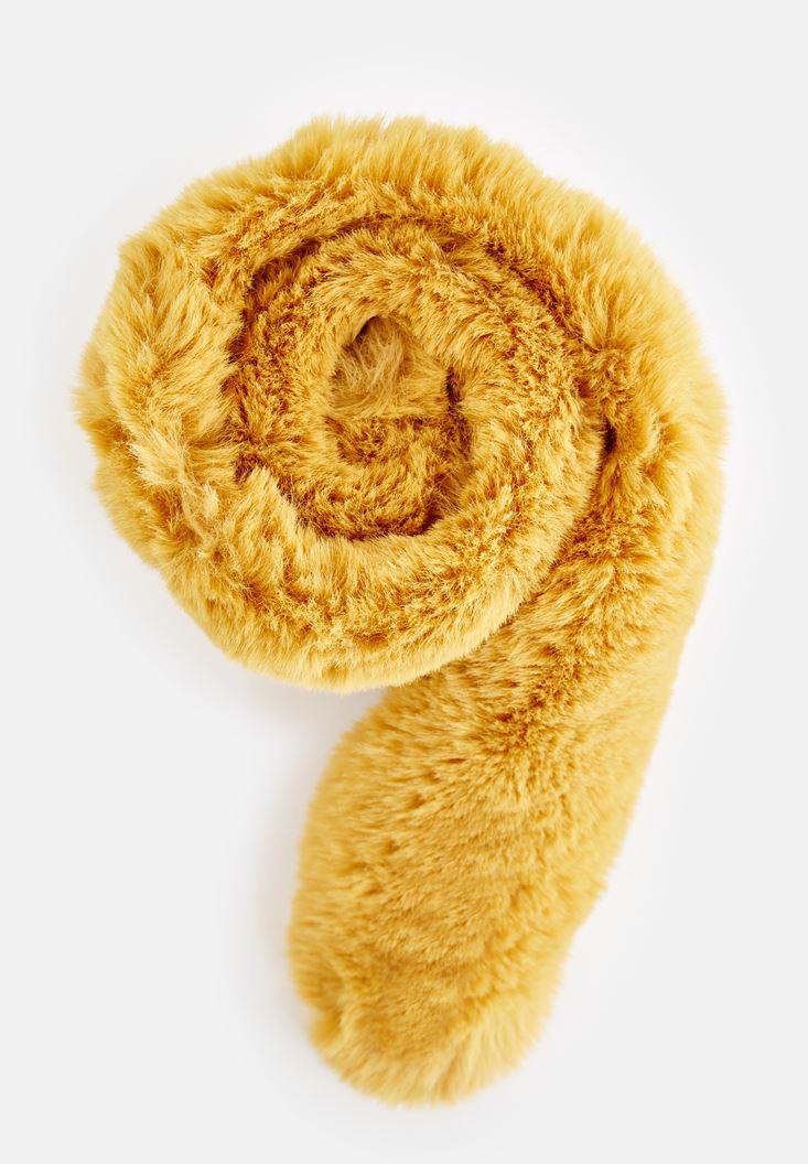 Bayan Sarı Kürk Boyunluk