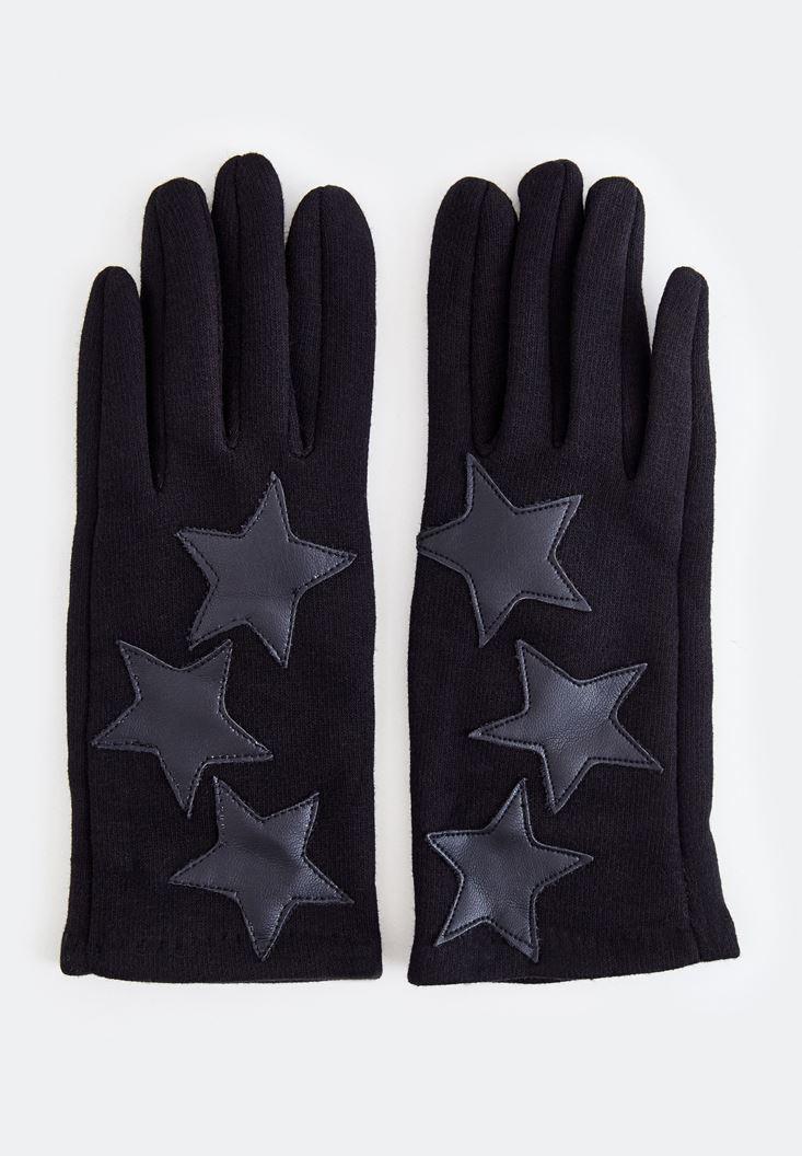 Siyah Yıldız Desenli Eldiven