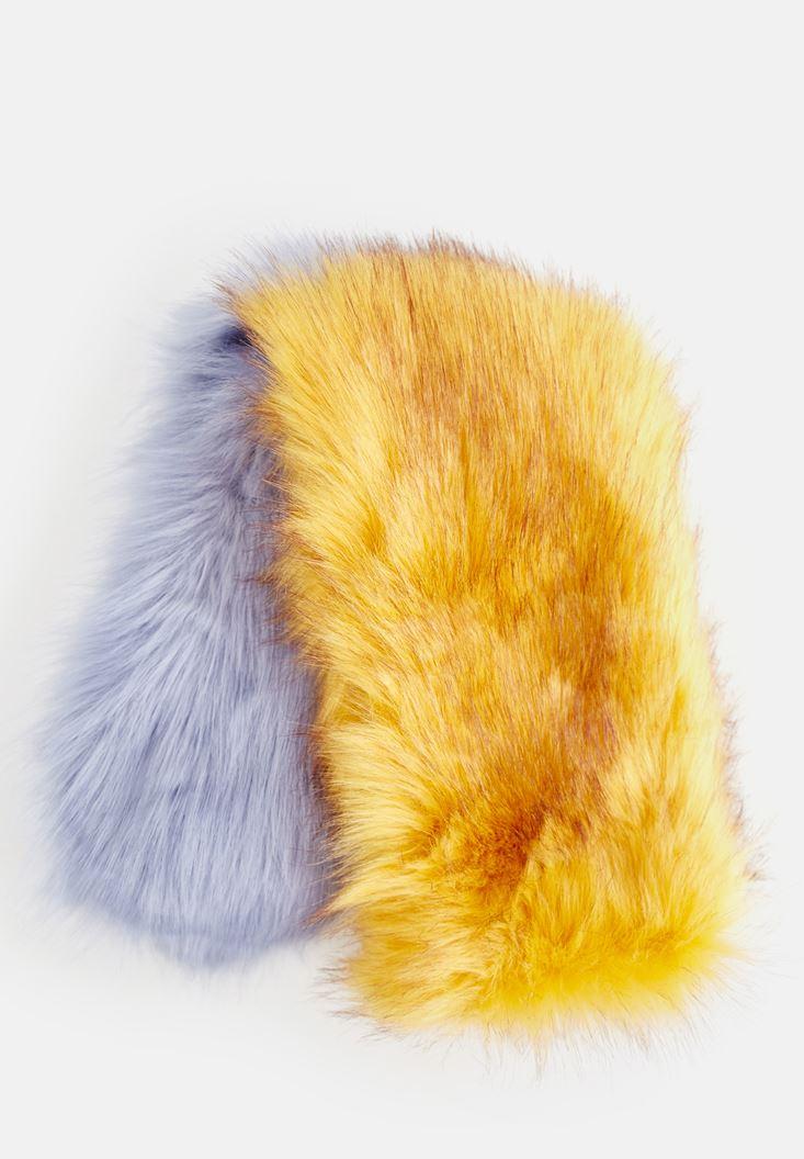 Mixed Fake Fur Scarf
