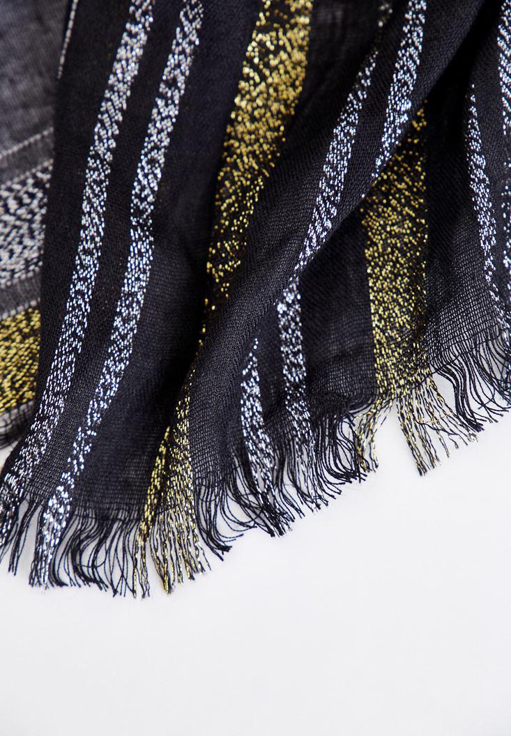 Women Mixed Shiny Shawl with Details
