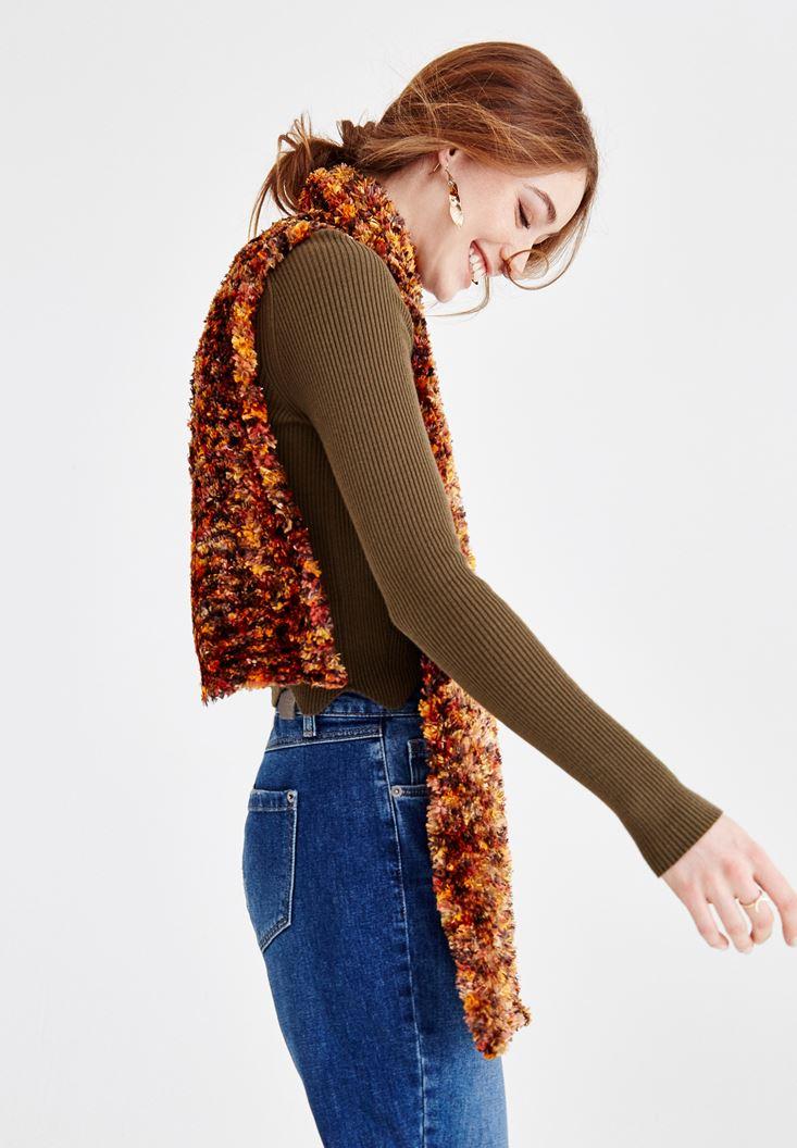 Orange Scarf with Color Details