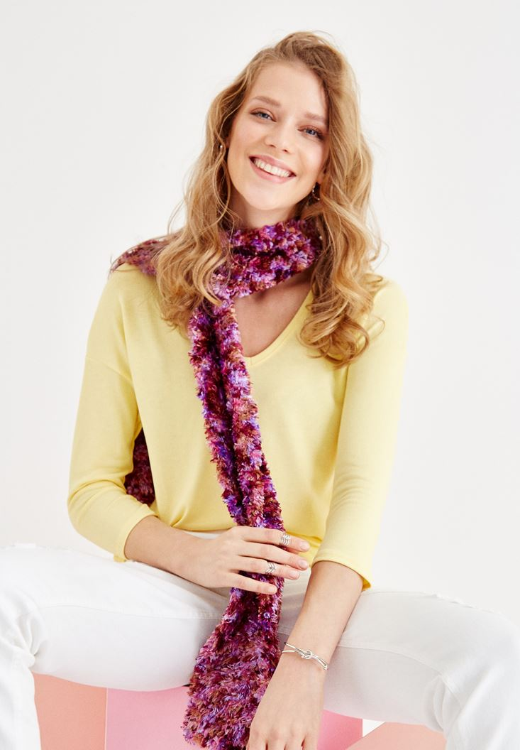 Mixed Scarf with Color Details