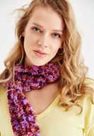 Women Mixed Scarf with Color Details