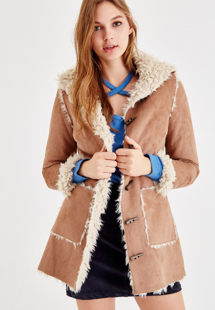 Brown Jacket with Fake Fur Inside