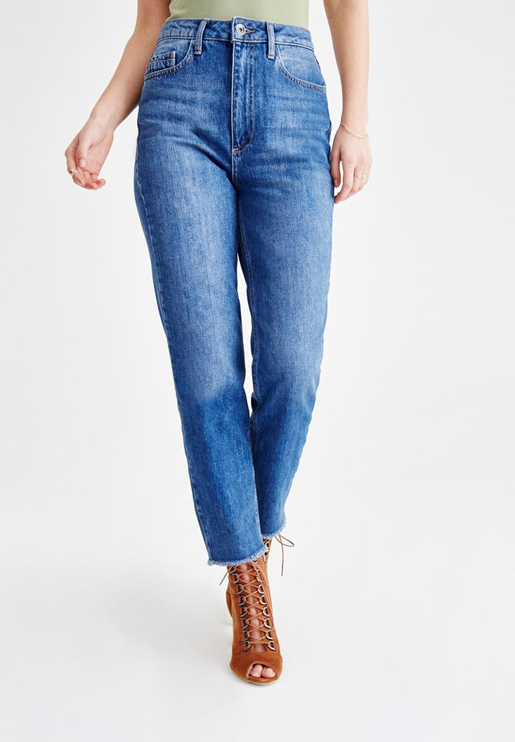 High Rise Straight Cut Jeans