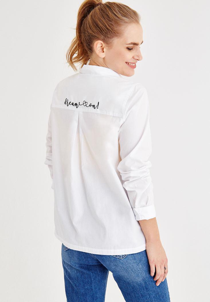 Women White Shirt with Back Detail