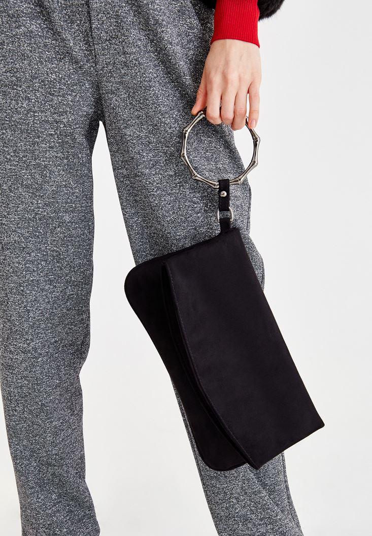 Siyah Detaylı Zarf Kesim Çanta