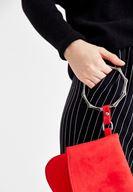 Bayan Kırmızı Detaylı Zarf Kesim Çanta