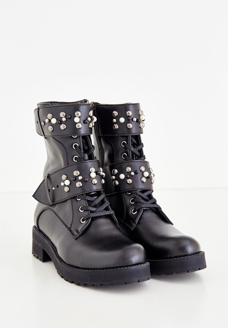 Black Pearl Detailed Boot