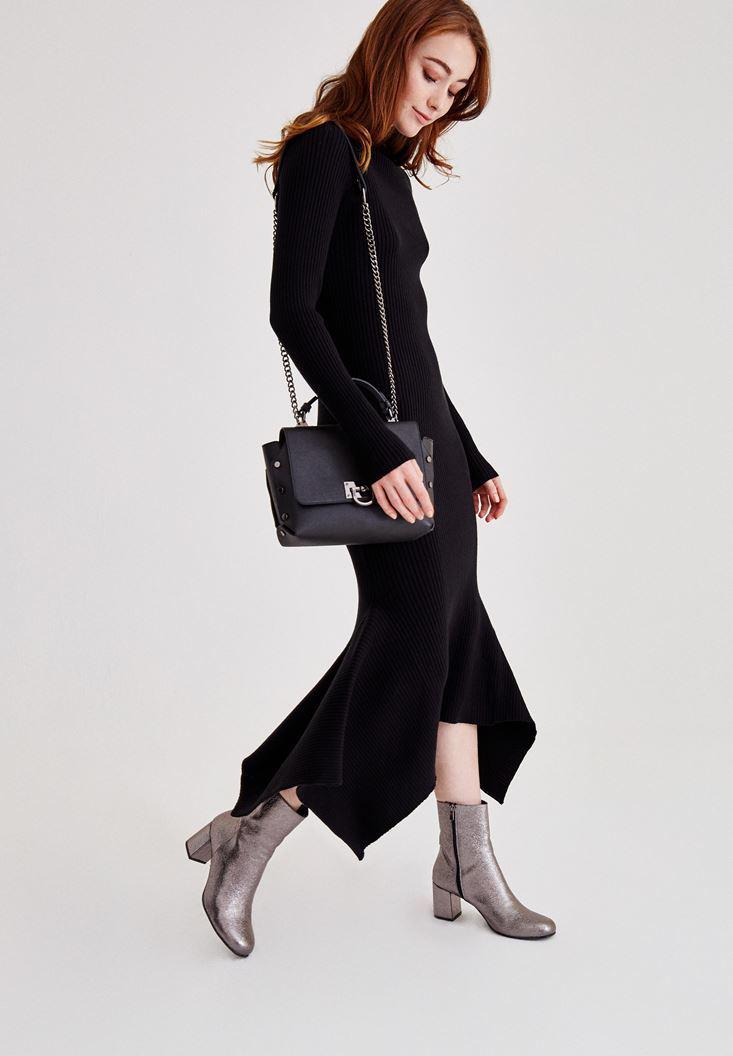 Women Grey Shiny Boot