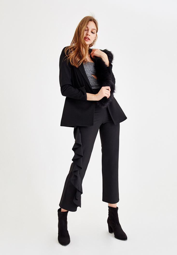 Siyah Uzun Kollu Blazer Ceket