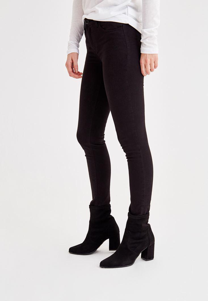 Women Black Mid-Rise Ankle Skinny Pants