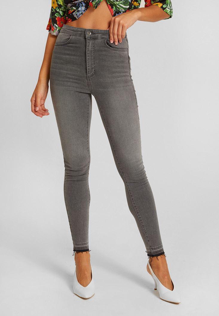 Grey Ultra High Rise Skinny Jean