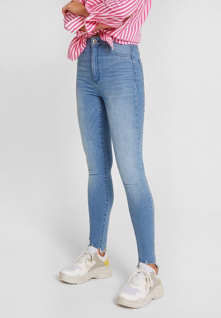 Blue Ultra High Rise Skinny Jean