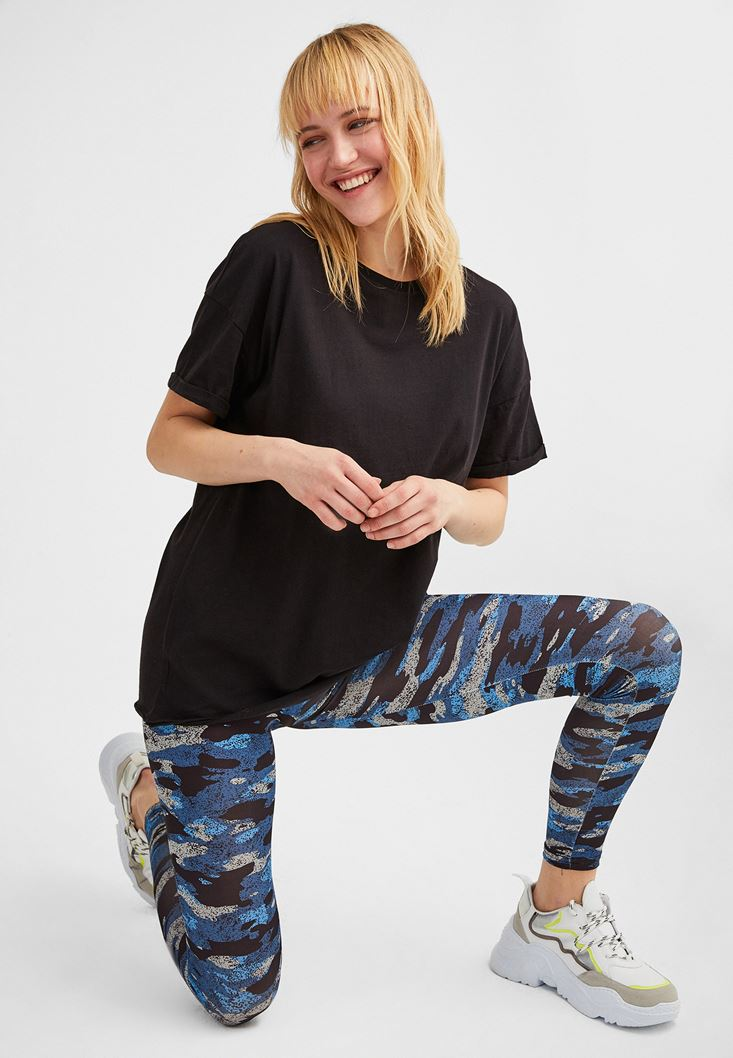 Mixed Camouflage Leggings