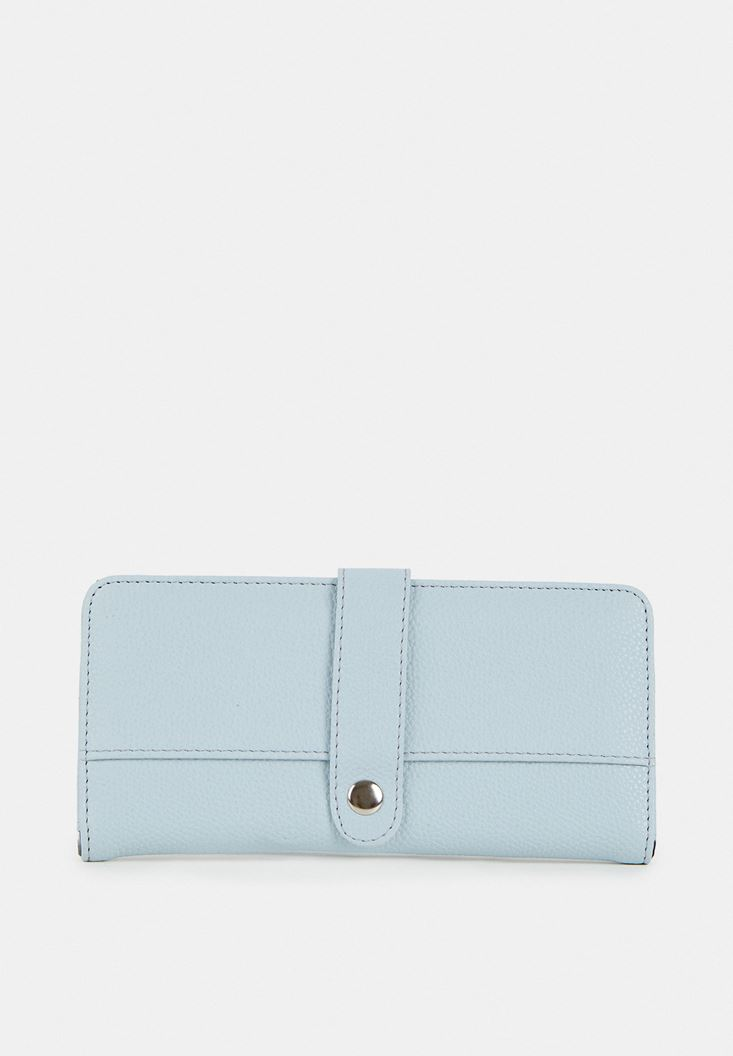 Blue Wallet with Details