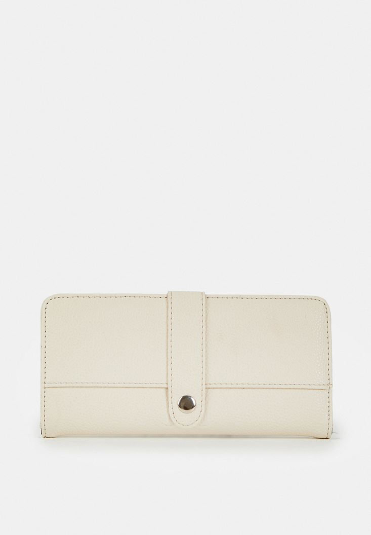 Cream Wallet with Details
