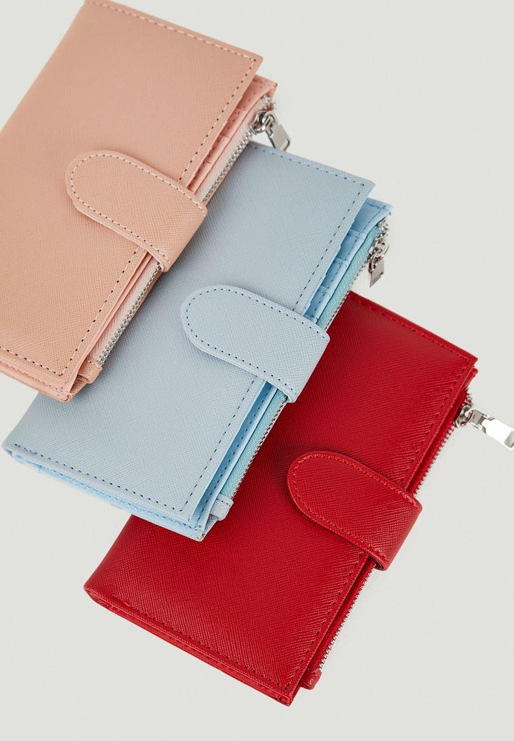 Pink Zipper Detailed Wallet