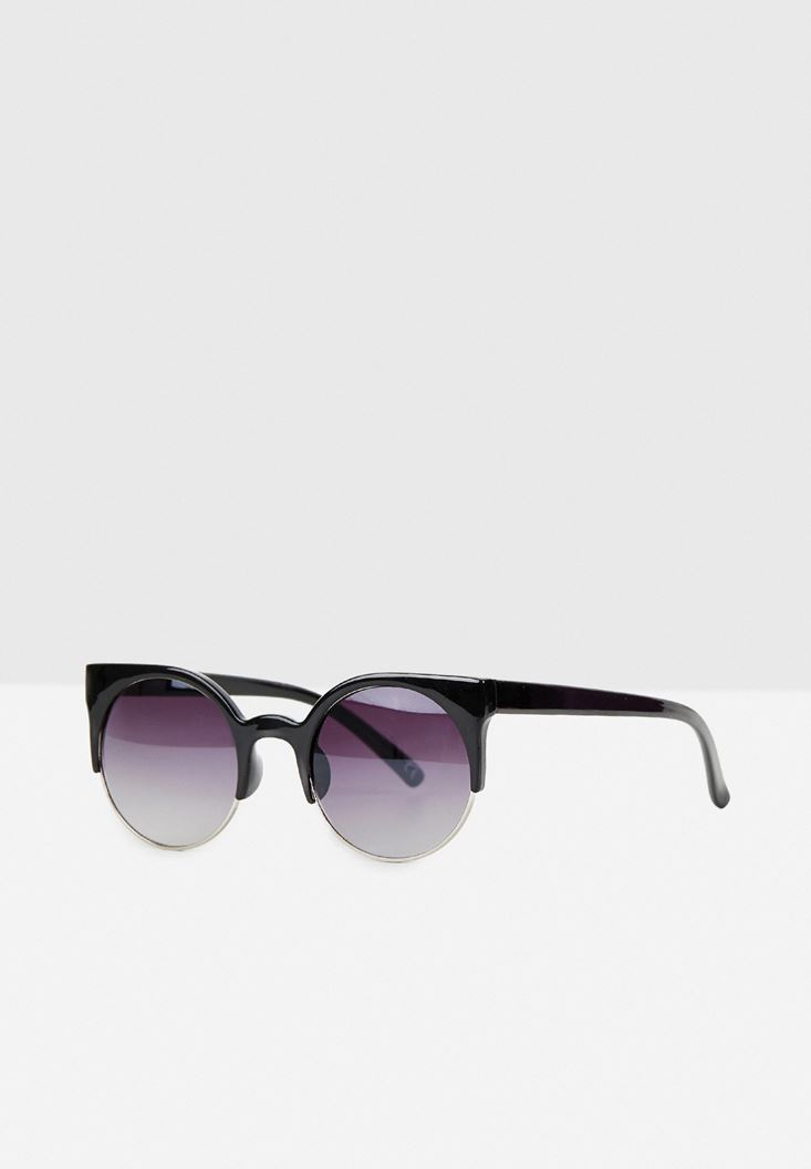 Black Detailed Sunglasses