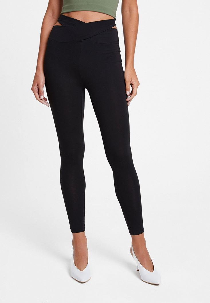 Black Leggings with Detail